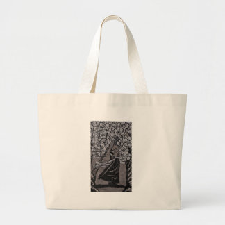 Cherry Blossom Warrior by Carter L Shepard Large Tote Bag