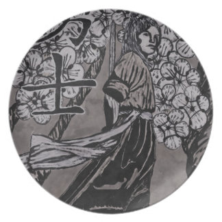 Cherry Blossom Warrior by Carter L Shepard Plate