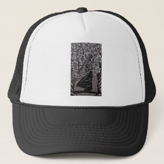 Cherry Blossom Warrior by Carter L Shepard Trucker Hat