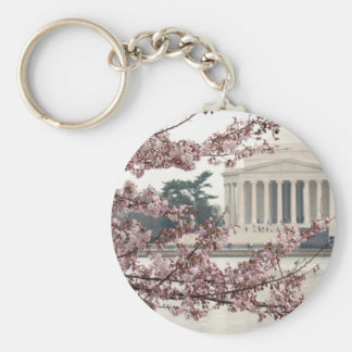 Cherry Blossom Washington DC Basic Round Button Keychain