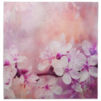 Cherry Blossom Watercolor Art Napkin
