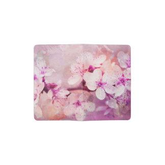 Cherry Blossom Watercolor Art Pocket Moleskine Notebook