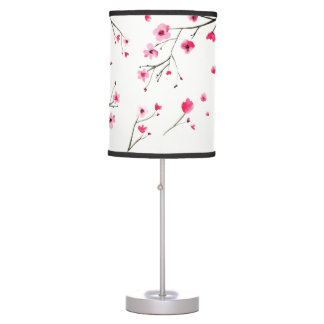 Cherry blossom Watercolor Table Lamp
