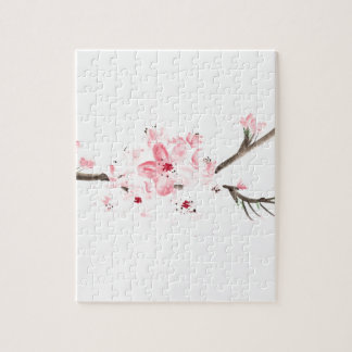 Cherry blossom watercolour jigsaw puzzle