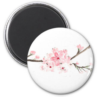 Cherry blossom watercolour magnet