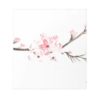 Cherry blossom watercolour notepad