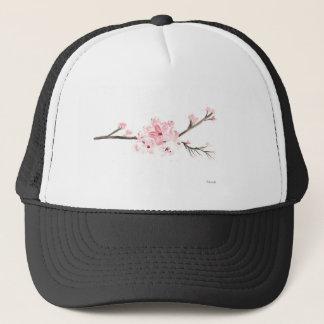 Cherry blossom watercolour trucker hat