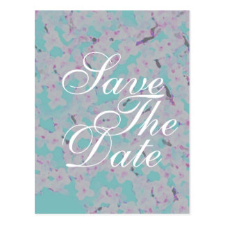 Cherry Blossom Wedding announcement card Postcard