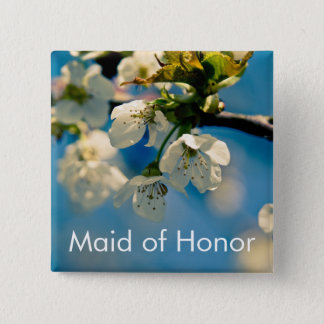 Cherry Blossom • Wedding Button