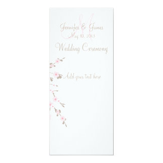 Cherry Blossom Wedding Church Program Cards