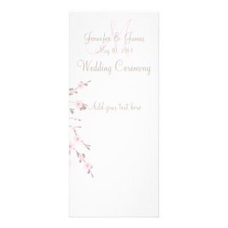 Cherry Blossom Wedding Church Program Cards Custom Announcements