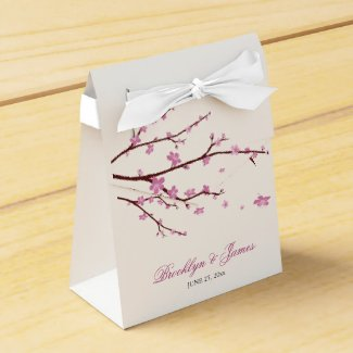 Cherry Blossom Wedding Favour Box Tent