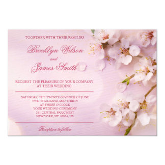 Cherry Blossom Wedding Invitations Pink Floral