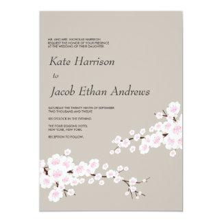 Cherry Blossom Wedding Invite // Khaki