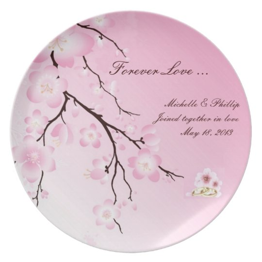 Cherry Blossom Wedding Plate