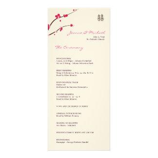 Cherry blossom wedding program matte personalized invitation