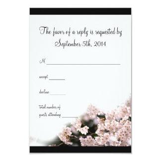 Cherry Blossom Wedding RSVP Card