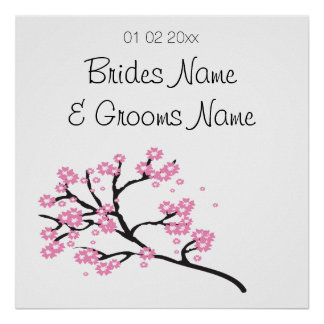 Cherry Blossom Wedding Souvenirs Gifts Giveaways Poster