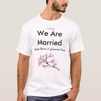 Cherry Blossom Wedding Souvenirs Gifts Giveaways T-Shirt