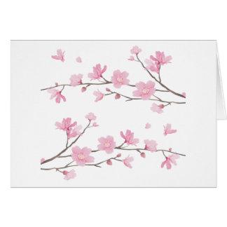 Cherry Blossom - White Background Card