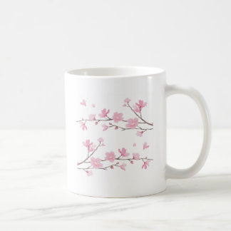 Cherry Blossom - White Background Coffee Mug