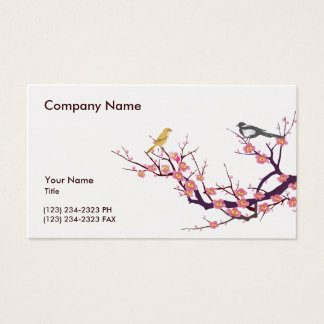 Cherry Blossom with Birds Business Card