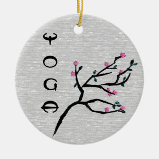 Cherry Blossom - Yoga Decor Ceramic Ornament