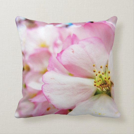 Cherry Blossoms 7 Throw Pillow
