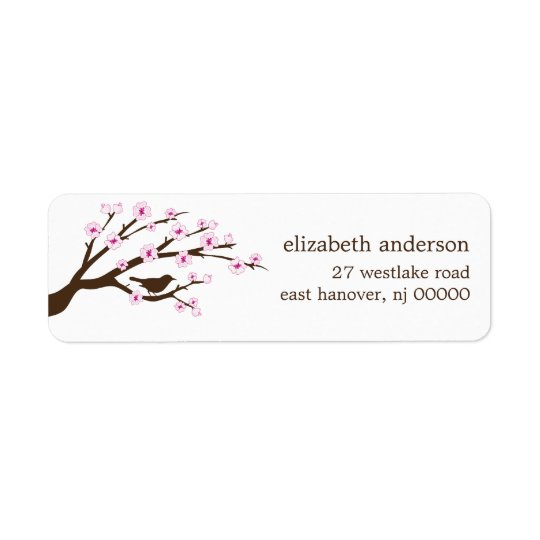 Cherry Blossoms Address Labels