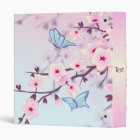 Cherry Blossoms and Butterflies Personalize Binder