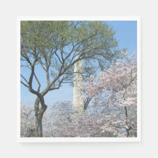 Cherry Blossoms and the Washington Monument in DC Disposable Napkin