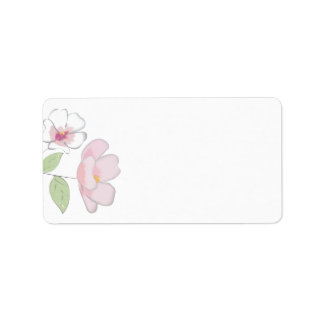 Cherry Blossoms Blank Address Labels