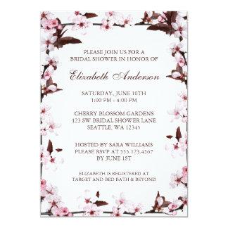 Cherry Blossoms Border Bridal Shower Card