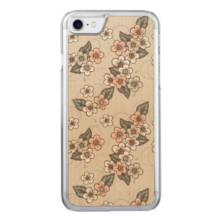 Cherry Blossoms Carved iPhone 8/7 Case