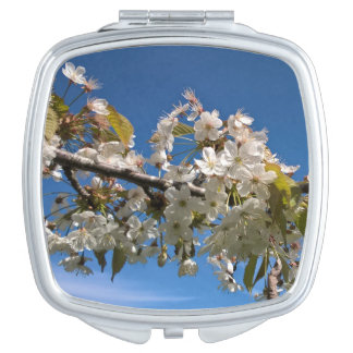 Cherry blossoms floral spring photo compact mirror