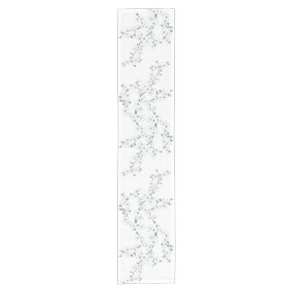 Cherry Blossoms Floral White Choose Background Short Table Runner