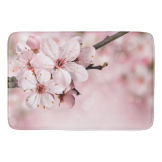 Cherry Blossoms in Bloom Bath Mat