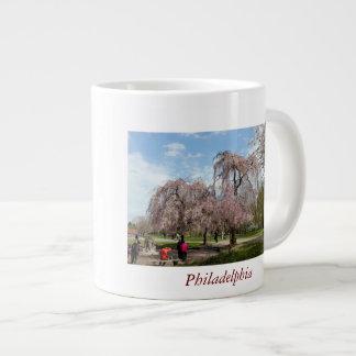 Cherry Blossoms in Philadelphia Giant Coffee Mug