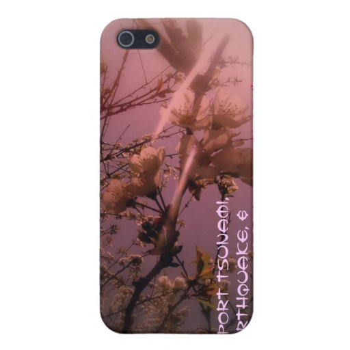 cherry blossoms in the sun red tint cover for iPhone 5