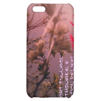 cherry blossoms in the sun red tint cover for iPhone 5C