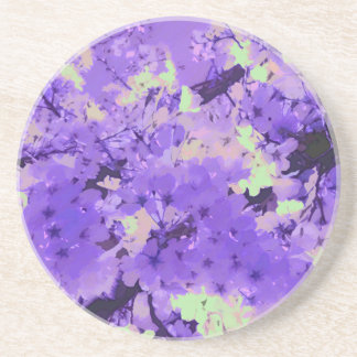 Cherry Blossoms in Violet Coaster