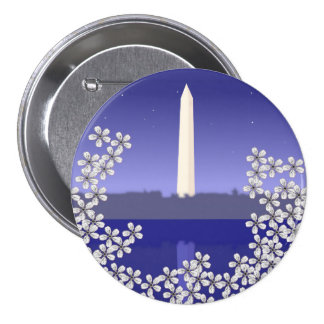 Cherry Blossoms in Washington DC 3 Inch Round Button