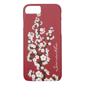 Cherry Blossoms iPhone 7 Case (red)