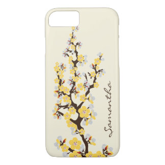 Cherry Blossoms iPhone 7 Case (yellow)