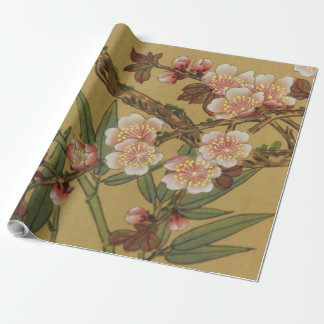 Cherry Blossoms Japanese Pink Vintage Wrapping Paper