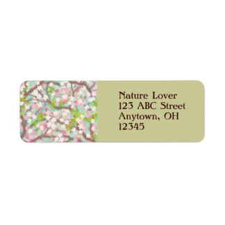 Cherry Blossoms Label