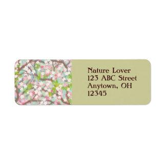 Cherry Blossoms Label Return Address Label