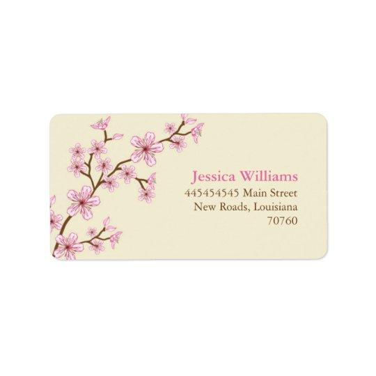 Cherry Blossoms Label