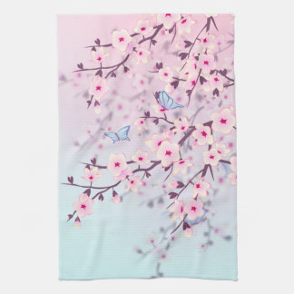Cherry Blossoms Landscape Kitchen Towel