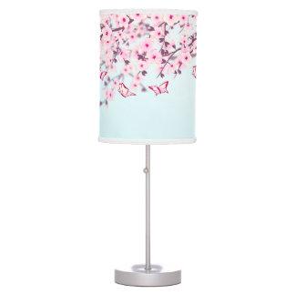 Cherry Blossoms Landscape Table Lamp